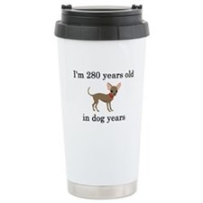 40 birthday dog years chihuahua Thermos Mug
