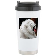 White Lion mousepad Travel Mug