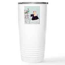 Scotties and Wren Winter Travel Mug
