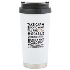SHAUN OF THE DEAD THE PLAN BLACK 3 Travel Mug