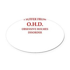 221b Oval Car Magnet