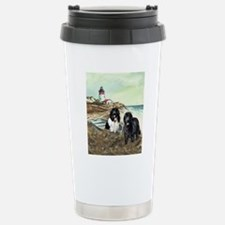 two newfs and boat for  Stainless Steel Travel Mug