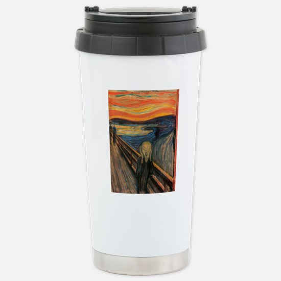 The_Scream_Poster Stainless Steel Travel Mug