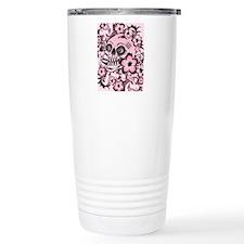 Pink Tattoo Skull IPAD Travel Mug