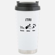 iTRI Black Stainless Steel Travel Mug