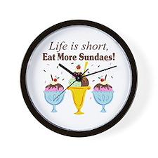 Eat Sundaes Wall Clock