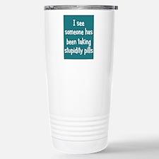 stupiditypills_ipad1 Travel Mug