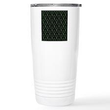 Pine Tree Damask Green  Travel Mug