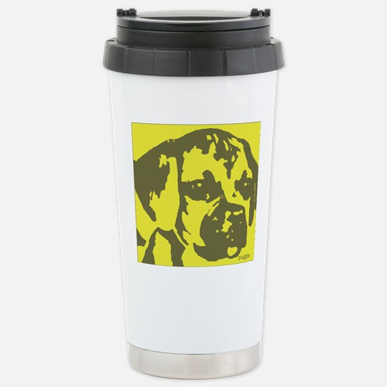 puggle_border Stainless Steel Travel Mug