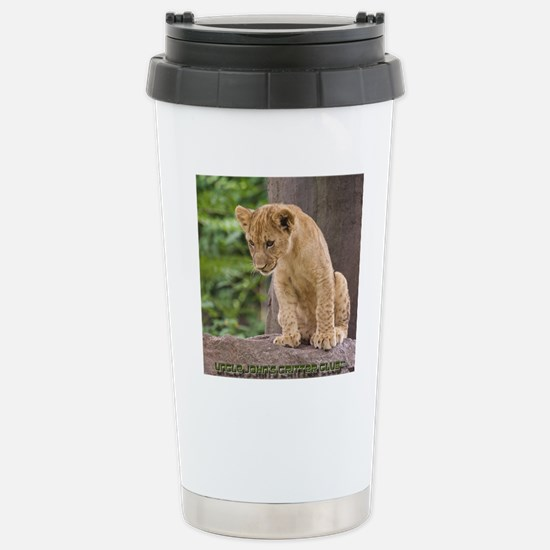 3x3_bear-lion-cub-bronx Stainless Steel Travel Mug