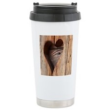 WoodenHeartTile Travel Mug