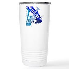 Trumpet vertical on bla Travel Mug