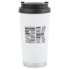 Brooklyn BK Text Art Travel Mug