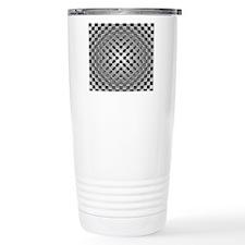 3D Checkered Optical Il Travel Mug