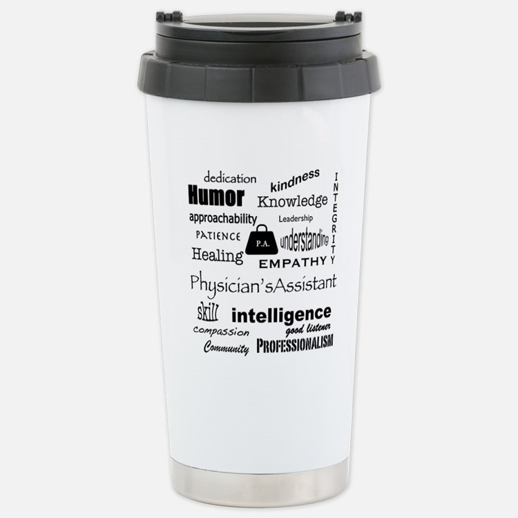 Physician Assistant Word Cloud Travel Mug
