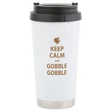 Keep Calm and Gobble Gobble Travel Mug