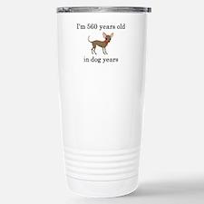 80 birthday dog years chihuahua Travel Mug