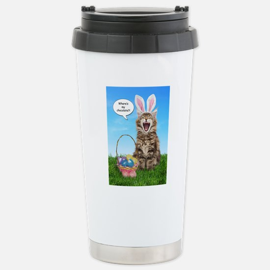 easterkitten_greet Stainless Steel Travel Mug