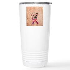 Funny Pig Sketch Pink H Travel Mug
