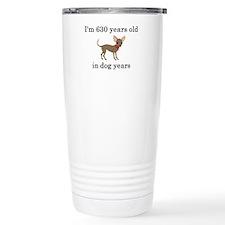 90 birthday dog years chihuahua Travel Mug