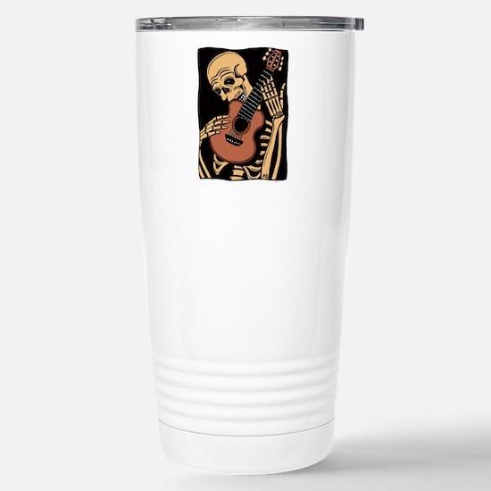 skullguitarcolor2 Stainless Steel Travel Mug