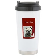 I Love you bulldog card Travel Mug