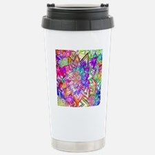 Colorful Vintage Floral Travel Mug