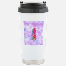Bright Neon Hawaiian Pi Stainless Steel Travel Mug