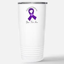 Personalized Alzheimers Ribbon Travel Mug