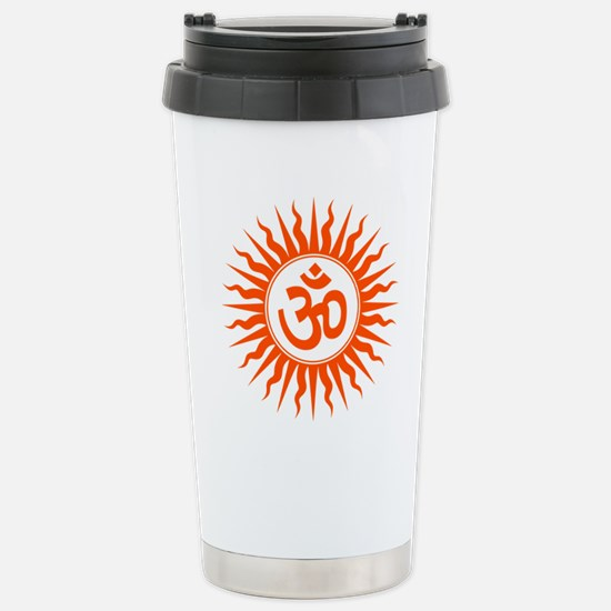 Spiritual Om Design Stainless Steel Travel Mug