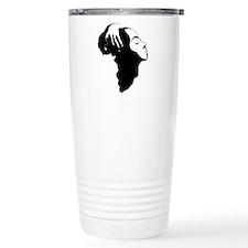 Africa and Woman Travel Mug