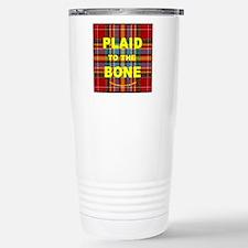 chat2plaid4x4circle 2a Stainless Steel Travel Mug