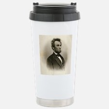 Portrait of Abe Lincoln Travel Mug