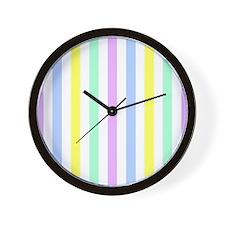 Unique Striped Wall Clock