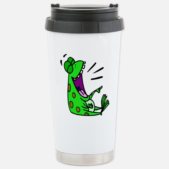 FROG LAUGH ALONE Stainless Steel Travel Mug