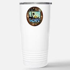 2-lostwoodvintageclock Travel Mug