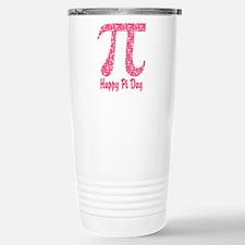 Pink Flowers Pi Day Travel Mug