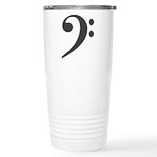 BassClefSilvX3blkRevLtB Travel Coffee Mug