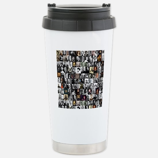 Dead Writers Collage Stainless Steel Travel Mug