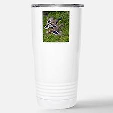 (15) mallards flying Travel Mug