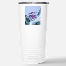 FrogOnLogZipperheadPurp Stainless Steel Travel Mug