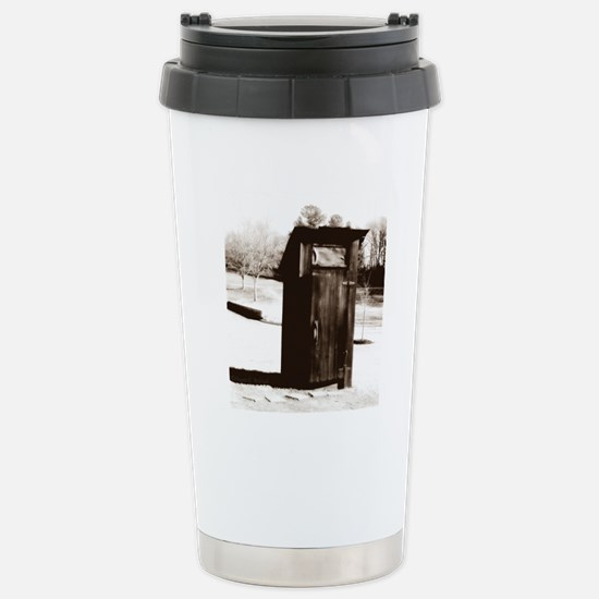 outhouse-watermarked Stainless Steel Travel Mug
