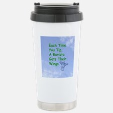 barista_button_zazzle Stainless Steel Travel Mug