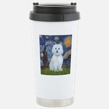 Starry Night - Maltese  Travel Mug