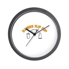 Illinois Flip Cup Wall Clock