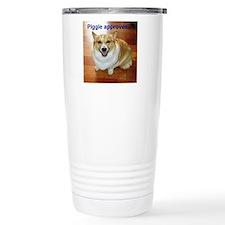3-PiggieApprovesLogo Travel Mug