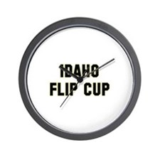 Idaho Flip Cup Wall Clock