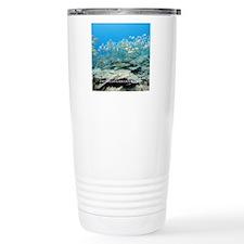Tile-Square-Yellowfish. Travel Mug