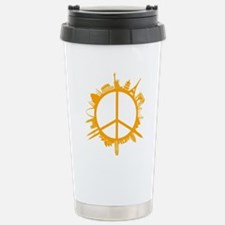 world peace orange Stainless Steel Travel Mug
