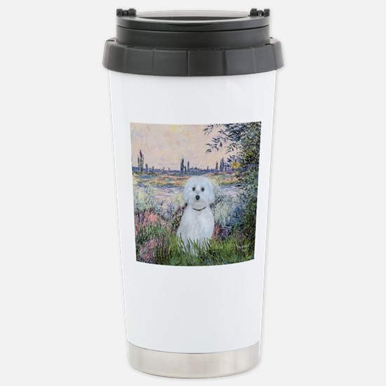 By the Seine - Maltese  Stainless Steel Travel Mug